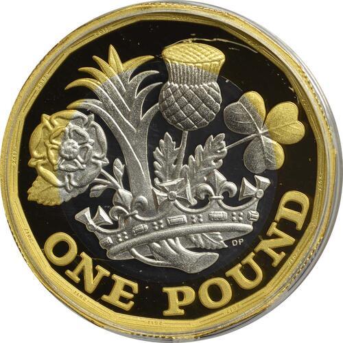Vorderseite :Großbritannien : 1 Pfund The New Pound  2017 PP