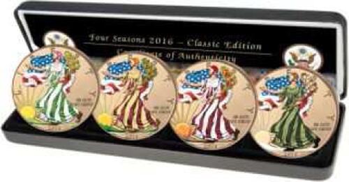 Lieferumfang :Kanada : 4 Dollar Silber Eagle Juwel-Set  2017 Stgl.