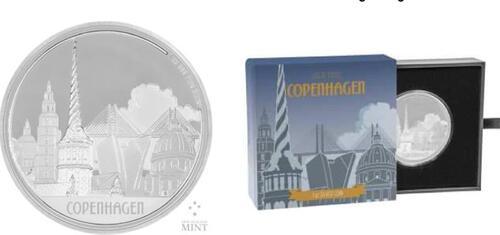 Lieferumfang :Niue : 2 Dollar Große Städte - Kopenhagen  2017 PP