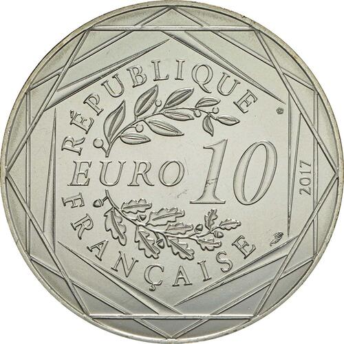Rückseite:Frankreich : 10 Euro La Provence rayonnante  2017 bfr