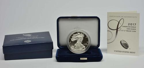 Lieferumfang :USA : 1 Dollar Silber Eagle  2017 PP
