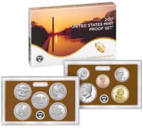 Lieferumfang :USA : 2,91 Dollar Jahressatz incl. 5x25ct + 1,66$  2017 PP