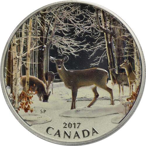 Vorderseite :Kanada : 10 Dollar Frühlingserwachen - Spring Sightings  2017 Stgl.