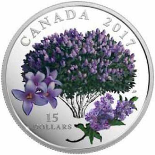 Lieferumfang :Kanada : 15 Dollar Blühender Flieder - Lilac Blossoms  2017 PP