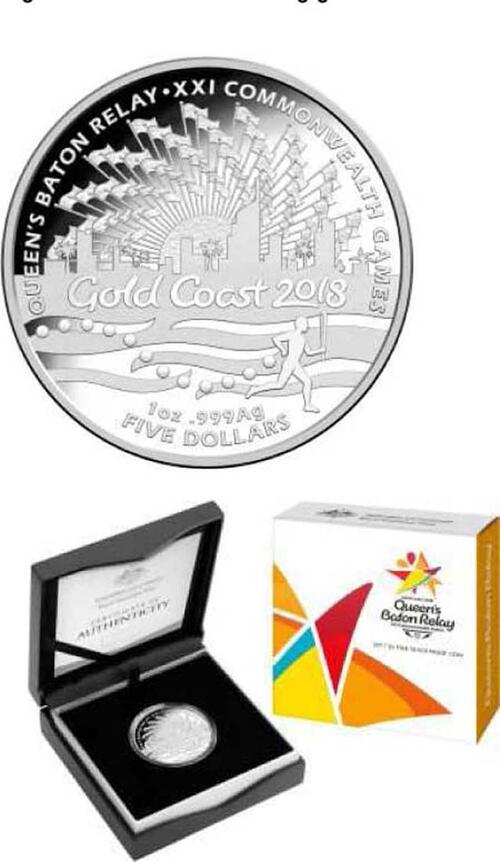 Lieferumfang :Australien : 5 Dollar Commonwealth Games in Gold Coast  2017 PP