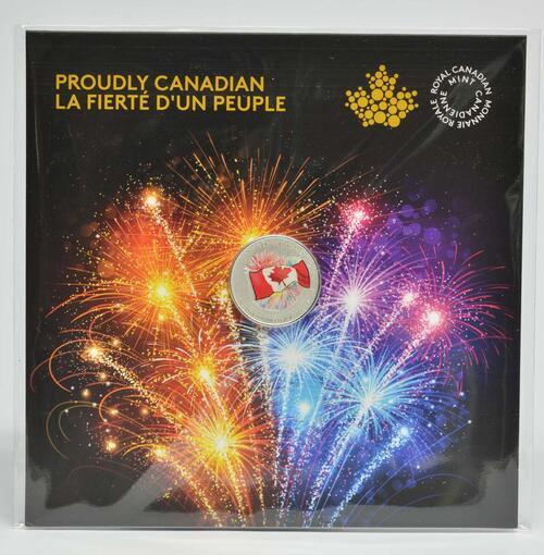Lieferumfang :Kanada : 5 Dollar Kanadier voller Stolz - leuchtet im Dunkeln  2017 Stgl.