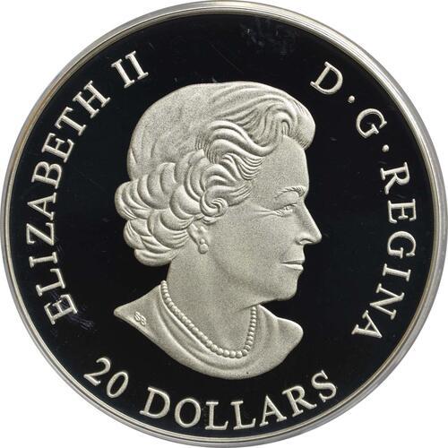 Rückseite :Kanada : 20 Dollar Opfer Medaille - 1. Weltkrieg  2017 PP