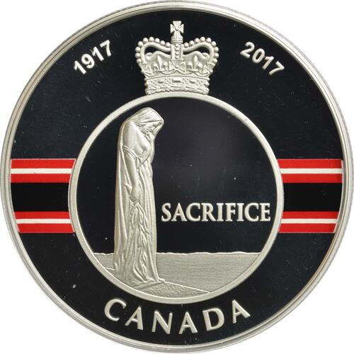 Vorderseite :Kanada : 20 Dollar Opfer Medaille - 1. Weltkrieg  2017 PP