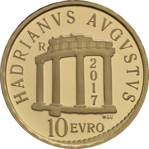 Rückseite :Italien : 10 Euro Hadrian  2017 PP