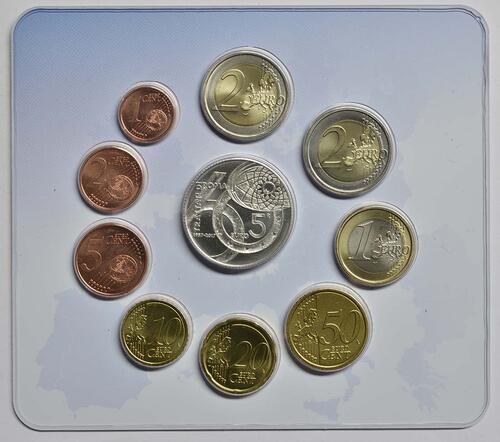 Rückseite :Italien : 10,88 Euro KMS Italien Römische Verträge inkl. 2 Euro Gedenkmünze  2017 Stgl.