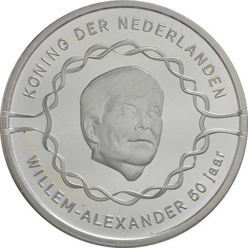 Vorderseite :Niederlande : 10 Euro 50 Jahre König Willem Alexander  2017 Stgl.