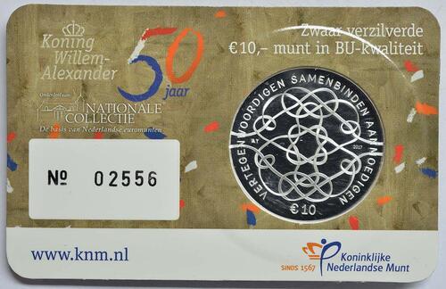 Zertifikat :Niederlande : 10 Euro 50 Jahre König Willem Alexander  2017 Stgl.