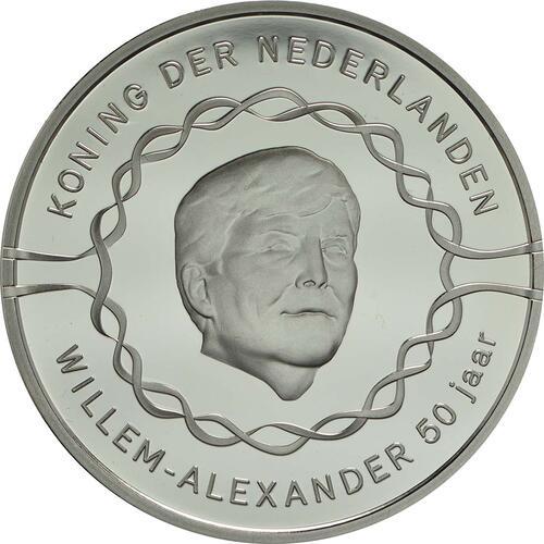 Vorderseite :Niederlande : 10 Euro 50 Jahre König Willem Alexander  2017 PP