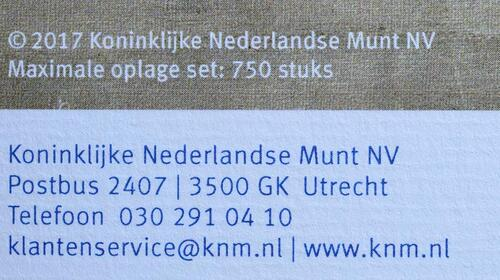 Zertifikat :Niederlande : 30 Euro 3x10 Euro 50 Jahre König Willem Alexander coloriert  2017 PP