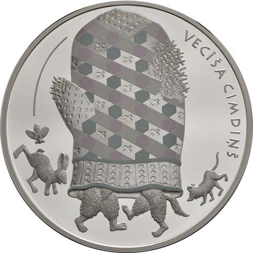 Rückseite :Lettland : 5 Euro Der Handschuh  2017 PP