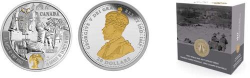 Lieferumfang :Kanada : 20 Dollar 100 Jahre Schlacht von Vimy Ridge - 1. Weltkrieg  2017 PP