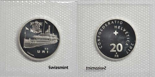 Lieferumfang :Schweiz : 20 Franken Dampfschiff Uri  2017 Stgl.