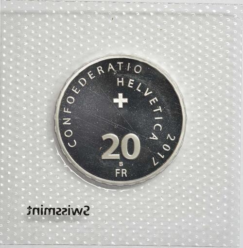 Rückseite :Schweiz : 20 Franken Jodeln  2017 Stgl.