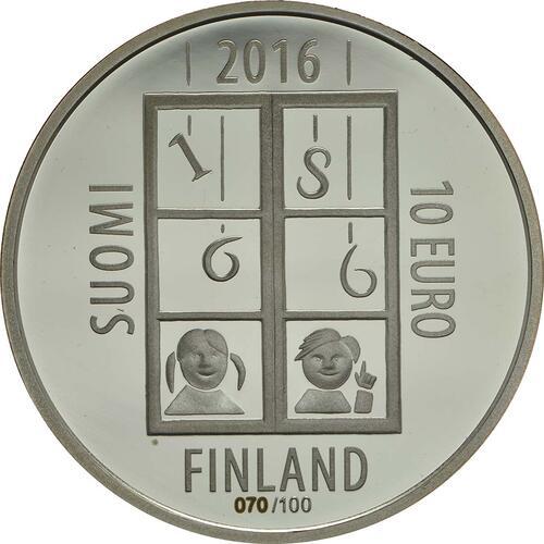 Rückseite :Finnland : 10 Euro Uno Cygnaeus  2016 PP