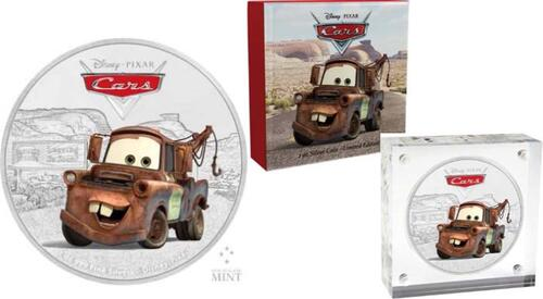 Lieferumfang :Niue : 2 Dollar Cars - Tow Mater  2017 PP