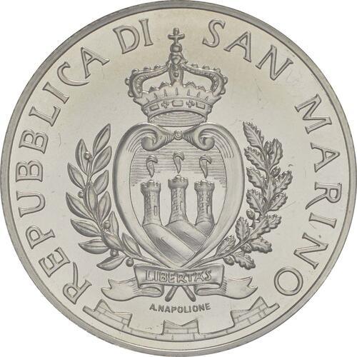 Rückseite:San Marino : 10 Euro 90. Jahrestag der Gründung von AS Roma  2017 Stgl.