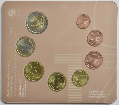 Rückseite:San Marino : 3,88 Euro KMS San Marino  2017 Stgl.