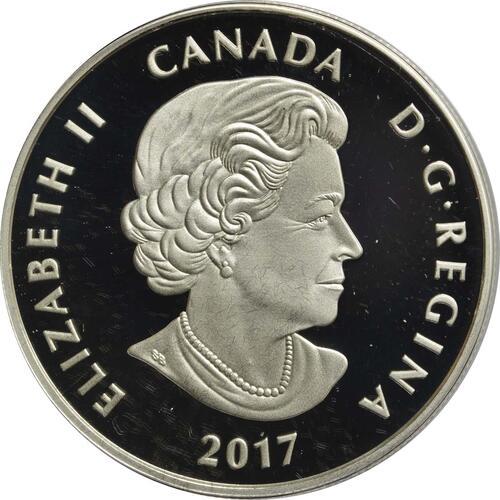 Rückseite:Kanada : 10 Dollar Vögel in farbenfroher Natur - Purpurschwalbe  2017 PP