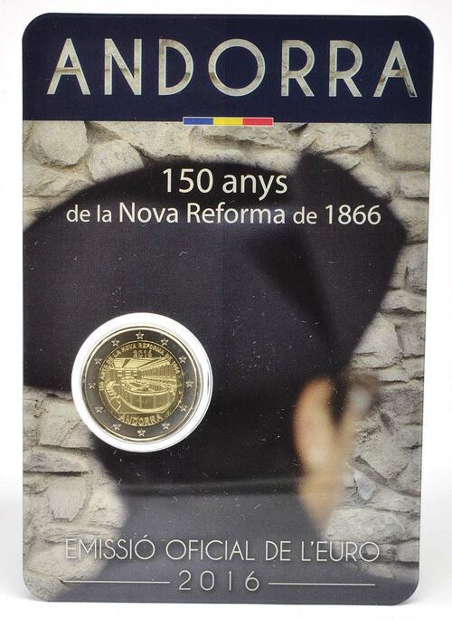 Lieferumfang:Andorra : 2 Euro 150-jähriges Jubiläum der Neuen Reform von 1866  2016 bfr