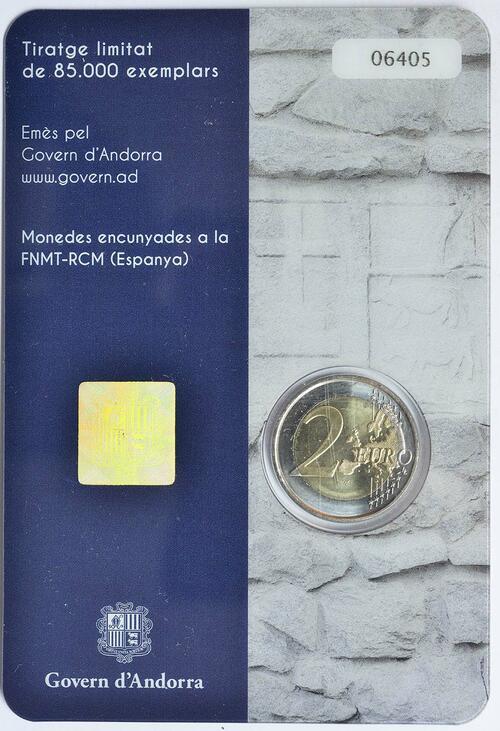 Zertifikat:Andorra : 2 Euro 150-jähriges Jubiläum der Neuen Reform von 1866  2016 bfr