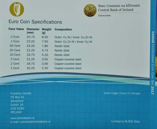 Zertifikat:Irland : 3,88 Euro KMS Irland  2017 Stgl.