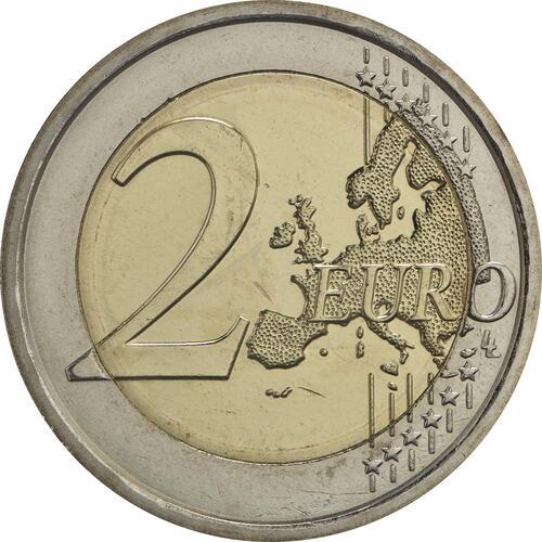 Vorderseite:San Marino : 2 Euro Der Heilige Marinus  2017 bfr