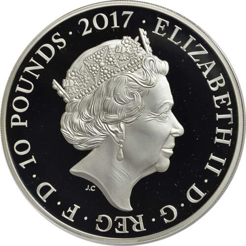 Rückseite :Großbritannien : 10 Pfund 100 Jahre Erster Weltkrieg  2017 PP