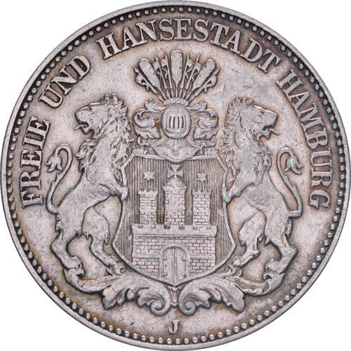 Vorderseite:Deutschland : 2 Mark Stadtsiegel winz. Kratzer, patina 1906 ss/vz.