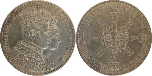 Lieferumfang:Deutschland : 1 Taler Krönungstaler  1861 vz.