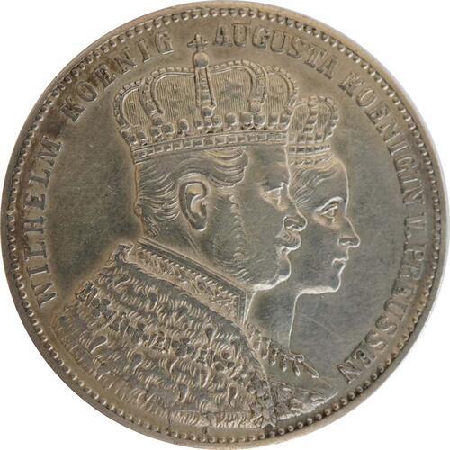 Vorderseite:Deutschland : 1 Taler Krönungstaler  1861 vz.