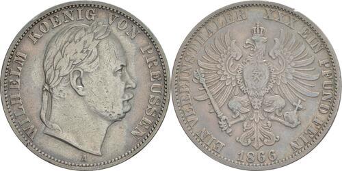 Lieferumfang:Deutschland : 1 Vereinstaler  patina, winz. Rs. 1866 vz.