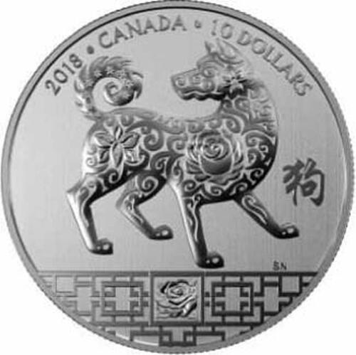 Lieferumfang :Kanada : 10 Dollar Jahr des Hundes - rund  2018 Stgl.