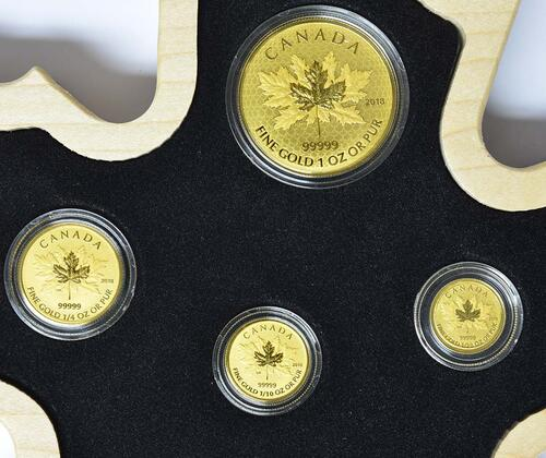 Vorderseite :Kanada : 66 Dollar Maple Leaf Fractional Set  2018 PP