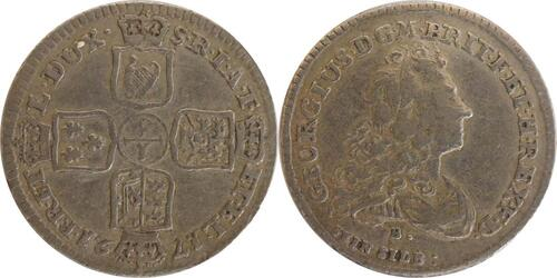 Lieferumfang :Deutschland : 1/6 Taler Georg Ludwig als Georg I 1714 - 1727 -selten- 1721 ss.