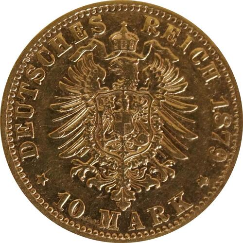 Rückseite :Deutschland : 10 Mark   1879 ss.