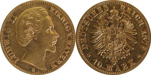 Lieferumfang :Deutschland : 10 Mark   1879 ss.