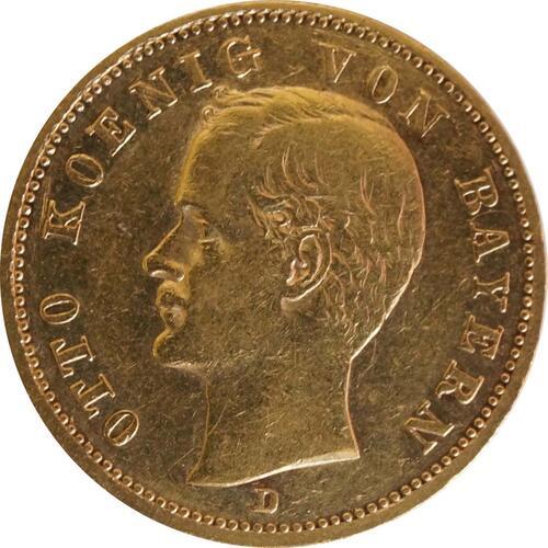 Vorderseite:Deutschland : 20 Mark  winz. Kratzer 1900 ss.