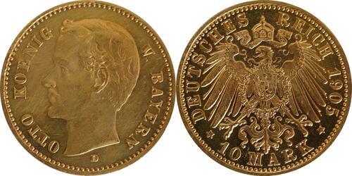 Lieferumfang:Deutschland : 10 Mark  winz. Kratzer 1905 f.ss