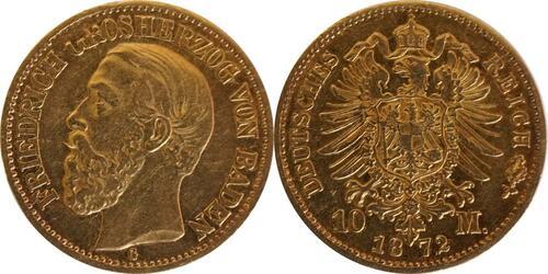Lieferumfang :Deutschland : 10 Mark   1872 ss.