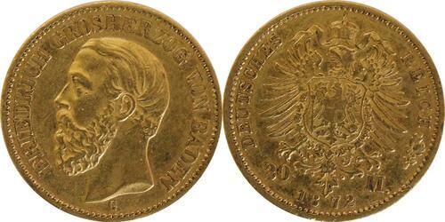 Lieferumfang:Deutschland : 20 Mark  winz. Rs. 1872 ss.