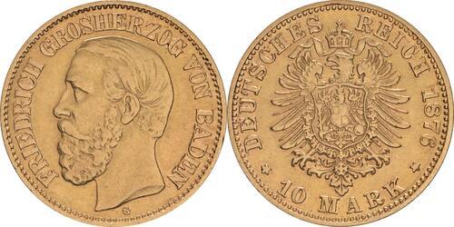 Lieferumfang :Deutschland : 10 Mark   1876 ss.