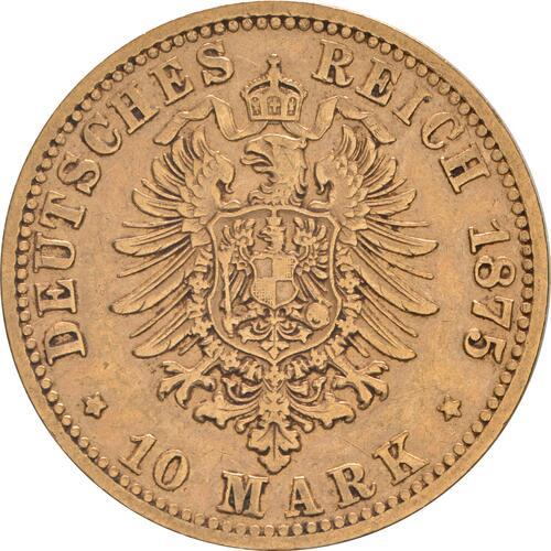 Rückseite:Deutschland : 10 Mark   1875 f.ss