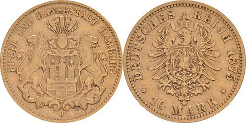 Lieferumfang:Deutschland : 10 Mark   1875 f.ss