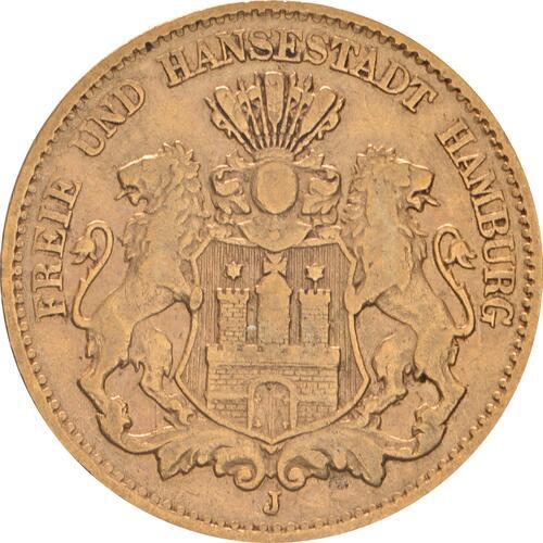 Vorderseite:Deutschland : 10 Mark   1875 f.ss