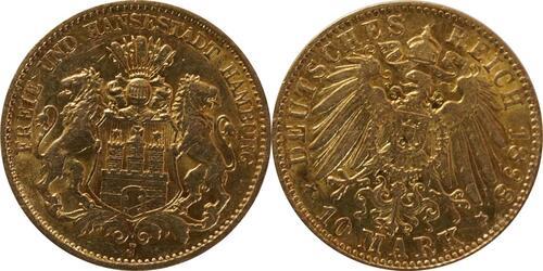 Lieferumfang:Deutschland : 10 Mark   1898 vz.